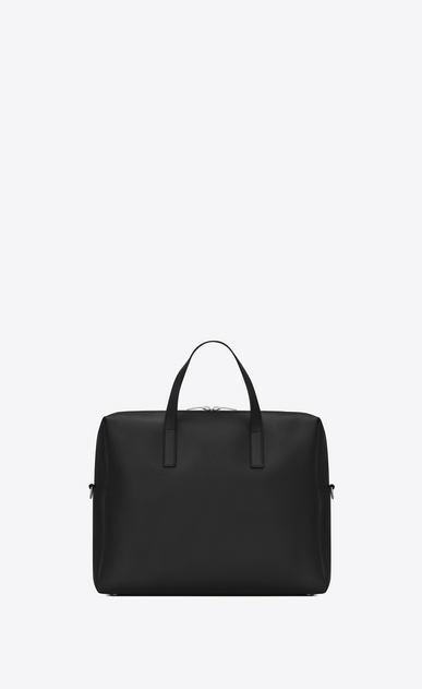 SAINT LAURENT Business Man bold briefcase in black leather b_V4