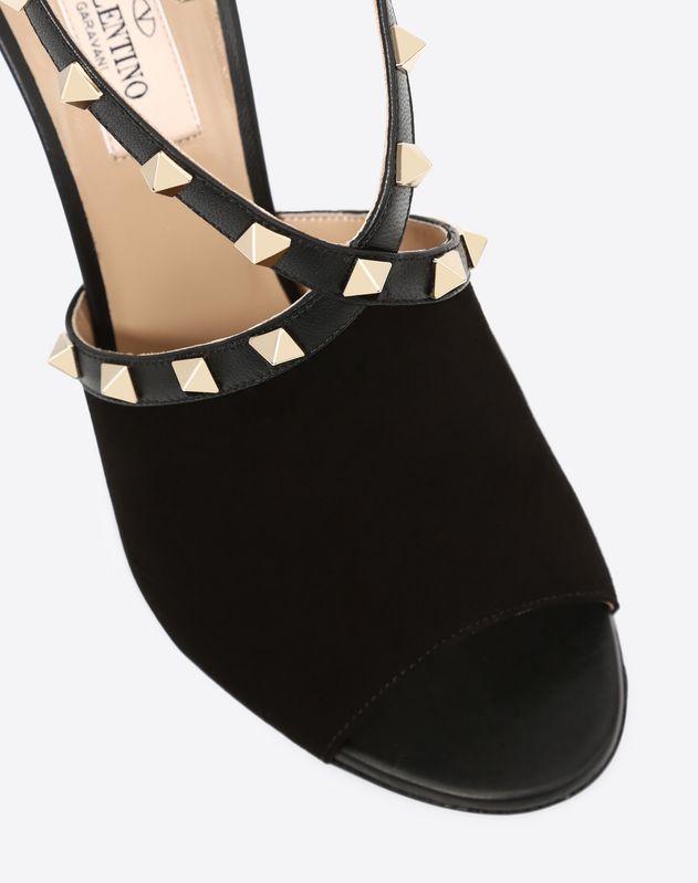 Suede Rockstud Sandal 105mm