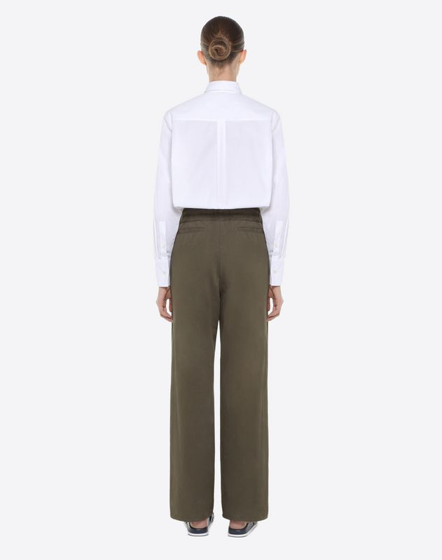 Cotton gabardine trousers