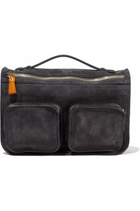 ANYA HINDMARCH Ripley leather-paneled suede shoulder bag