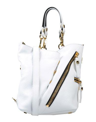 GIANCARLO PETRIGLIA レディース ハンドバッグ ホワイト 紡績繊維