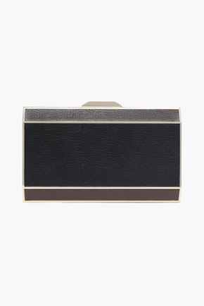 ANYA HINDMARCH Color-block textured-leather box clutch