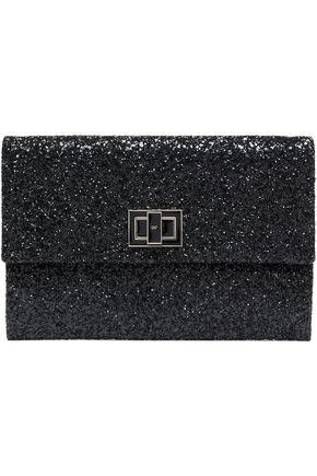 ANYA HINDMARCH Glittered leather clutch