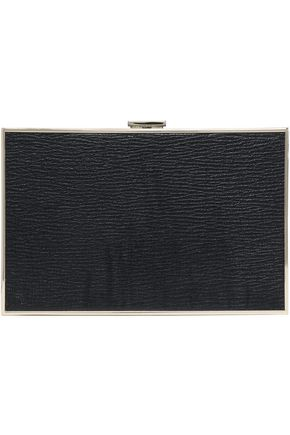 ANYA HINDMARCH Imperial Stop Staring printed textured-leather box clutch