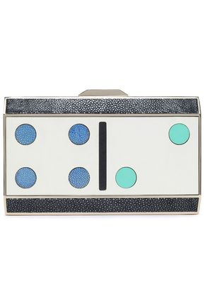 ANYA HINDMARCH Printed leather clutch
