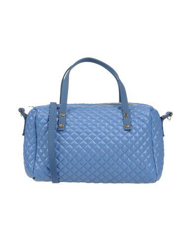 LA FILLE des FLEURS レディース ハンドバッグ ブルー 紡績繊維