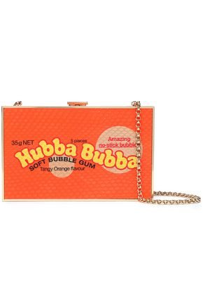 ANYA HINDMARCH Hubba Bubba Imperial printed elaphe box clutch