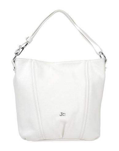 J & C JACKYCELINE レディース ハンドバッグ ホワイト 革