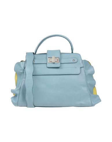 LA CARRIE BAG レディース ハンドバッグ スカイブルー 紡績繊維