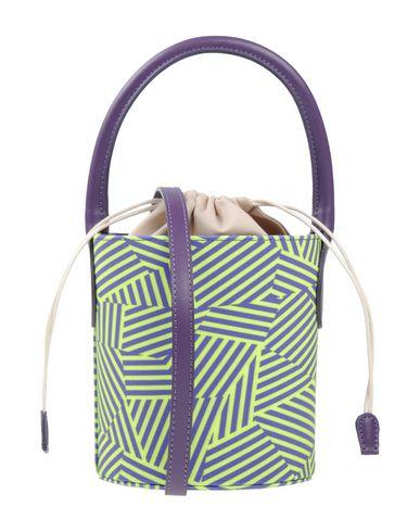 LAURA DI MAGGIO レディース ハンドバッグ ライトグリーン 革 / 紡績繊維