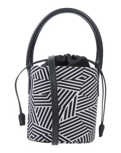 LAURA DI MAGGIO レディース ハンドバッグ ブラック 革 / 紡績繊維