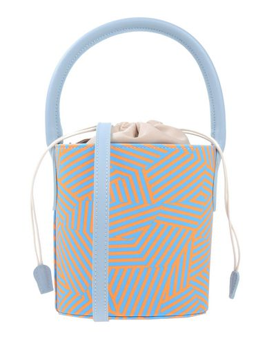 LAURA DI MAGGIO レディース ハンドバッグ オレンジ 革 / 紡績繊維