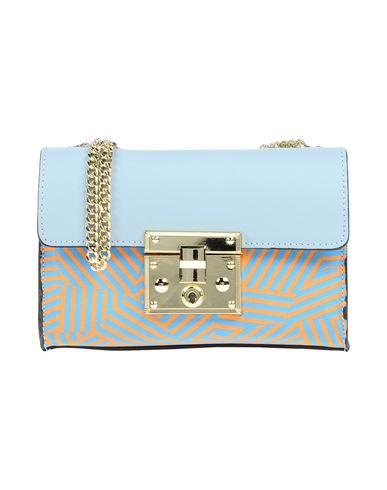 LAURA DI MAGGIO レディース ハンドバッグ アジュールブルー 革 / 紡績繊維