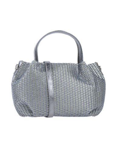 LAURA DI MAGGIO レディース ハンドバッグ グレー 革 / 紡績繊維