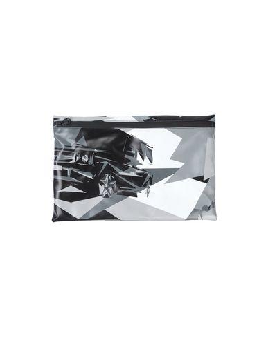 HYDROGEN レディース ハンドバッグ グレー ポリ塩化ビニル 90% / ポリエステル 10%