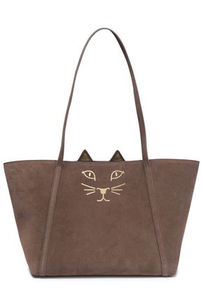 CHARLOTTE OLYMPIA Printed suede tote