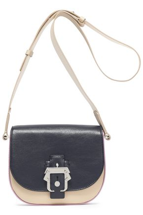 PAULA CADEMARTORI Color-block leather shoulder bag