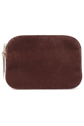 NINA RICCI Velvet and leather pouch