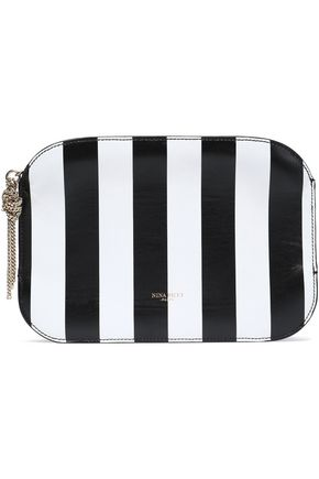 NINA RICCI Elide striped leather pouch
