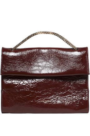 NINA RICCI Textured patent--leather shoulder bag