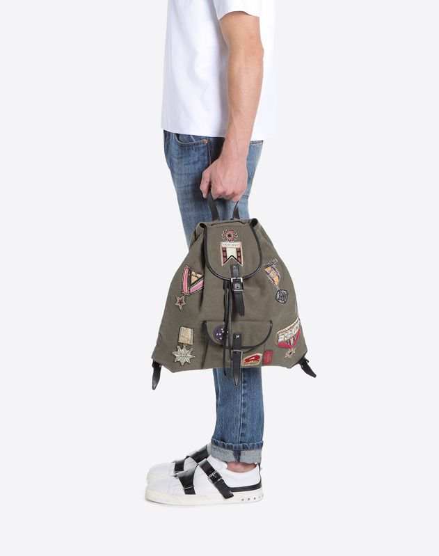 Patch Canvas Backpack