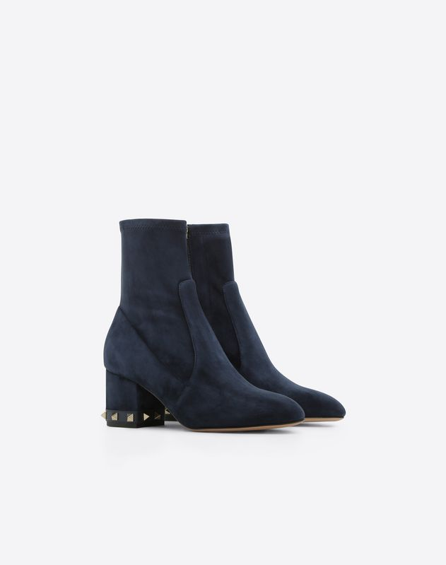 Stretch Suede Rockstud Bootie 60mm