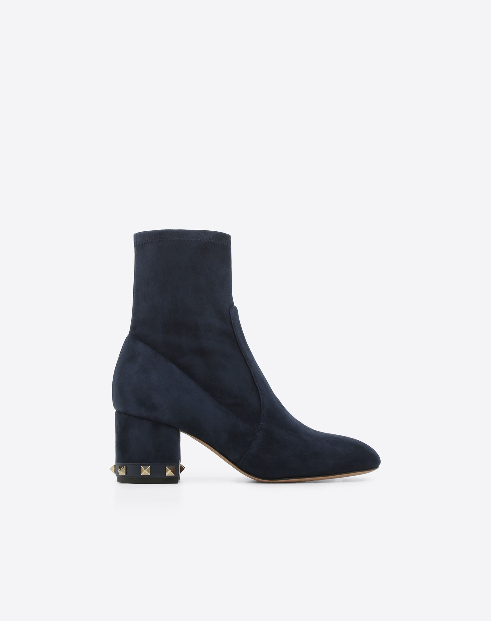 Rockstud suede ankle boot 60 mm