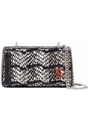 EMILIO PUCCI Painted snake-effect leather shoulder bag