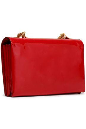 VALENTINO GARAVANI Embellished patent-leather shoulder bag