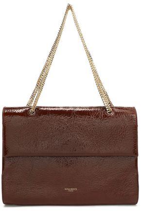 NINA RICCI Textured patent-leather shoulder bag