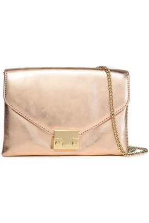 LOEFFLER RANDALL Jr Lock metallic leather shoulder bag