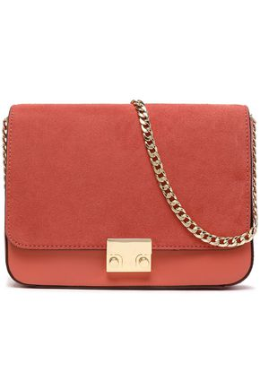 LOEFFLER RANDALL Leather and suede shoulder bag
