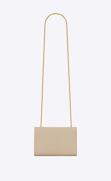 SAINT LAURENT MONOGRAM KATE Woman classic small kate chain bag in powder textured leather b_V4