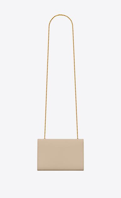 SAINT LAURENT MONOGRAM KATE Donna classic small monogram satchel in pelle grain de poudre color cipria b_V4