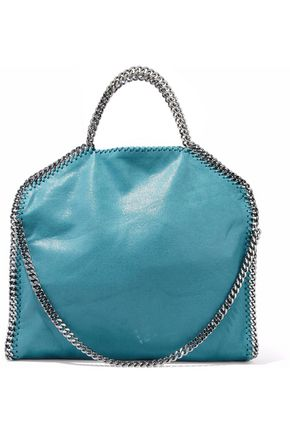 STELLA McCARTNEY Faux brushed-leather shoulder bag
