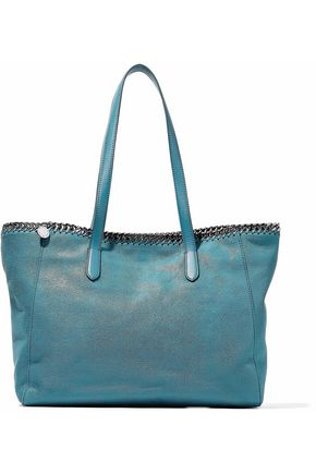 STELLA McCARTNEY Chain-trimmed coated faux suede tote