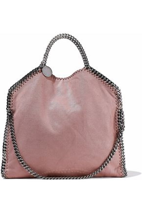 STELLA McCARTNEY Faux brushed-leather tote