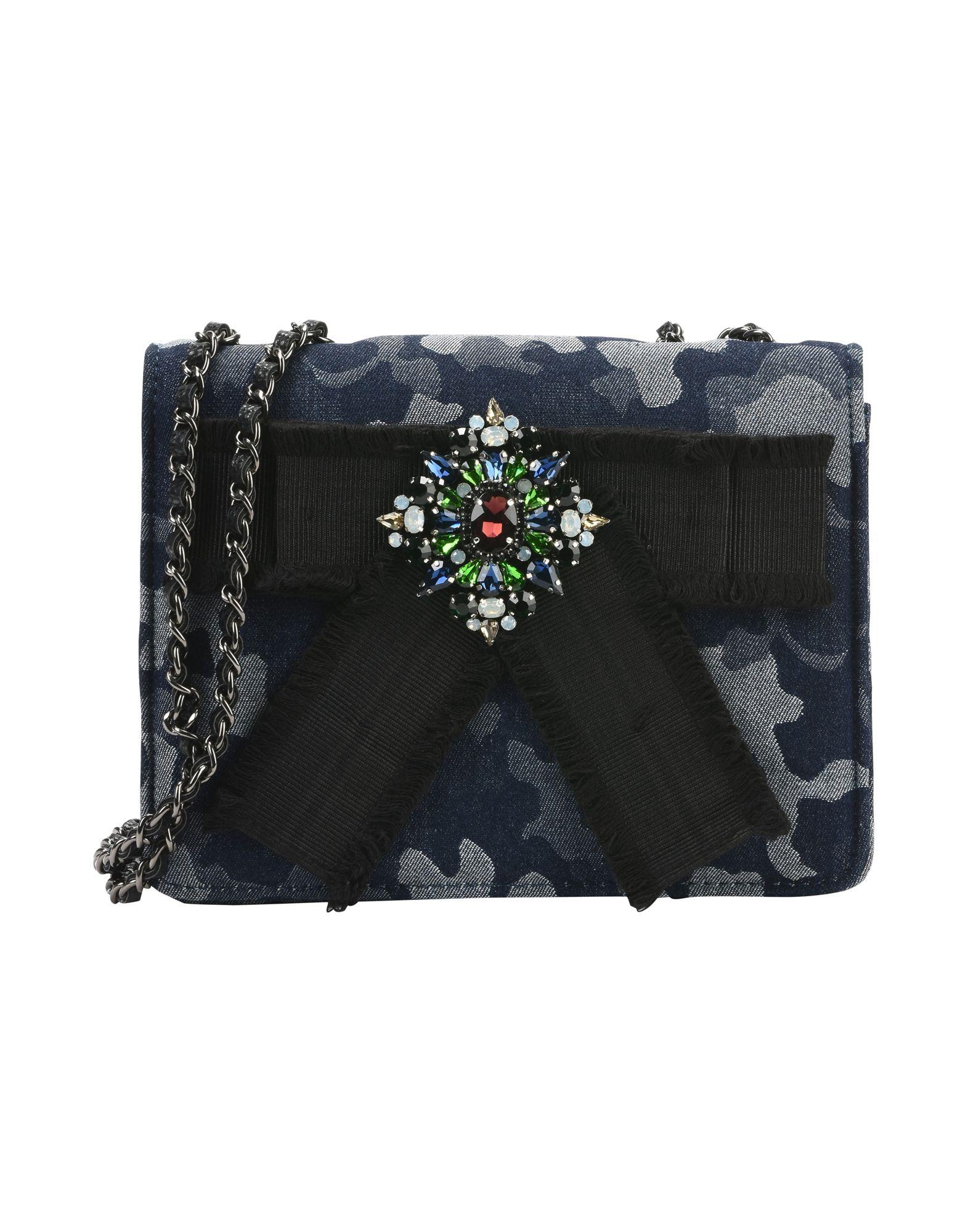 《送料無料》ESSENTIEL ANTWERP レディース メッセンジャーバッグ ブルー コットン / ガラス / 金属繊維 Petrella small shoulderbag