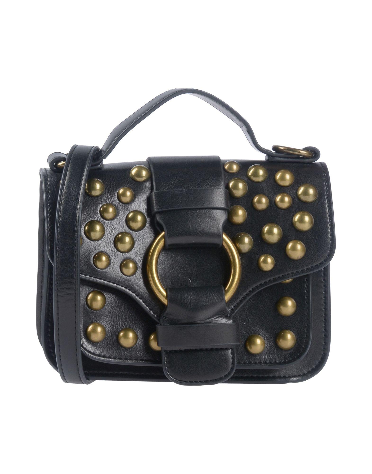 《送料無料》ESSENTIEL ANTWERP レディース ハンドバッグ ブラック ポリウレタン 100% Pagode small shoulderbag