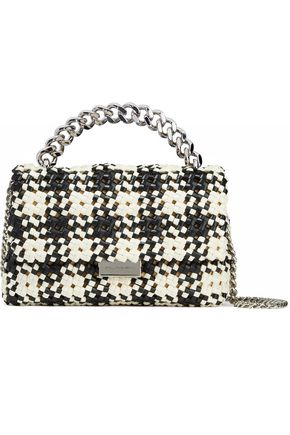 STELLA McCARTNEY Two-tone woven faux-leather shoulder bag