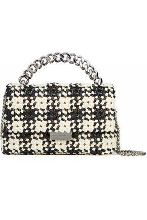 STELLA McCARTNEY Two-tone woven faux-leather shoulder bag