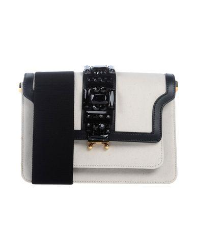 MARNI レディース ハンドバッグ アイボリー 紡績繊維 / 革