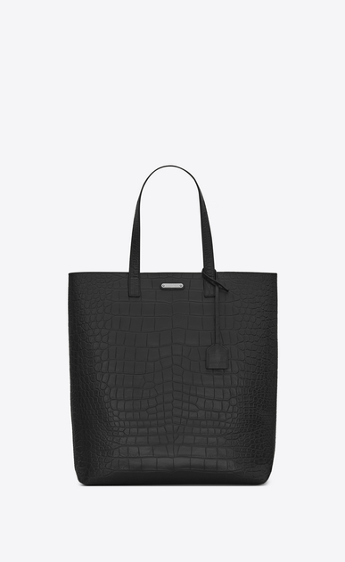 SAINT LAURENT Totes Man bold tote bag in crocodile embossed leather a_V4