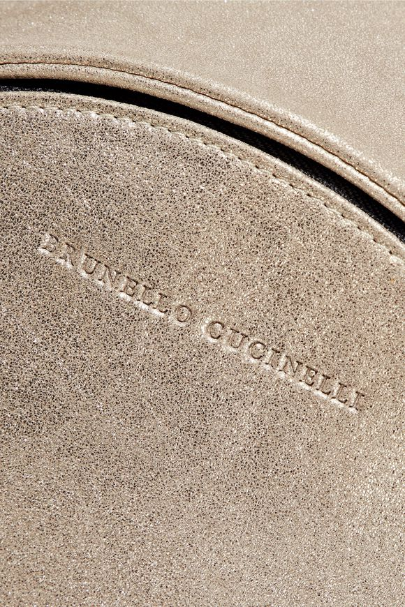 43be0064e Metallic brushed leather backpack | BRUNELLO CUCINELLI | Sale up to ...