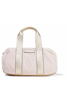 BRUNELLO CUCINELLI Metallic leather-trimmed shell shoulder bag