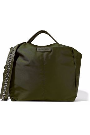 STELLA McCARTNEY Chain and faux leather-trimmed shell shoulder bag