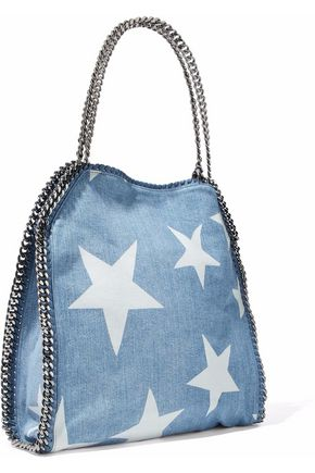 STELLA McCARTNEY Falabella printed denim tote