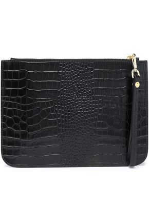 IRIS & INK Ned croc-effect leather clutch