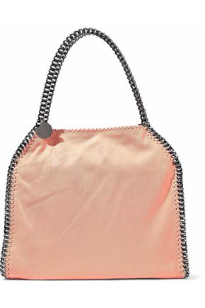 STELLA McCARTNEY Falabella chain-trimmed faux brushed-leather tote
