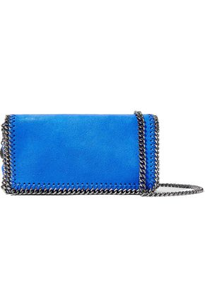 STELLA McCARTNEY Chain-trimmed coated faux leather shoulder bag